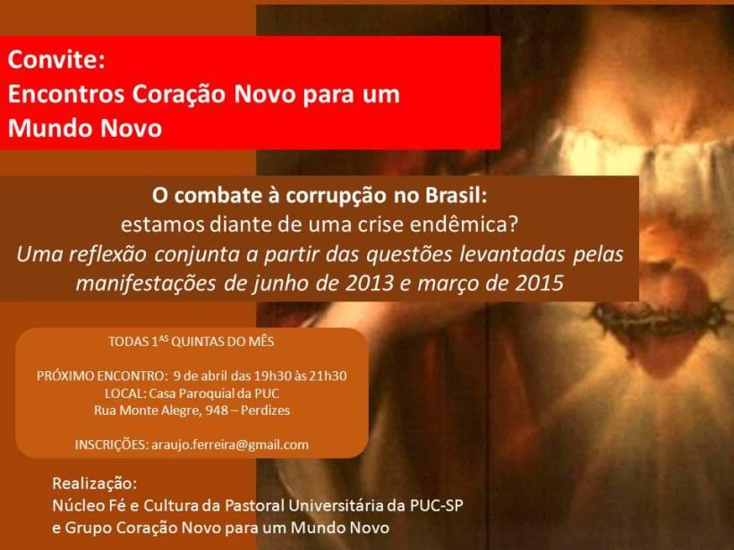 convite combate corrupção